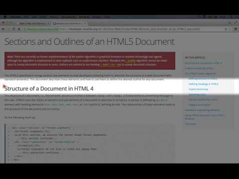 How The HTML Section Tag Works