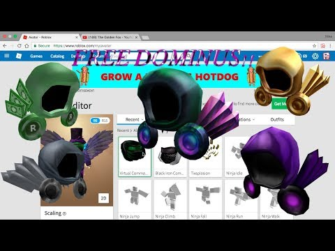 how to make a dominus in roblox