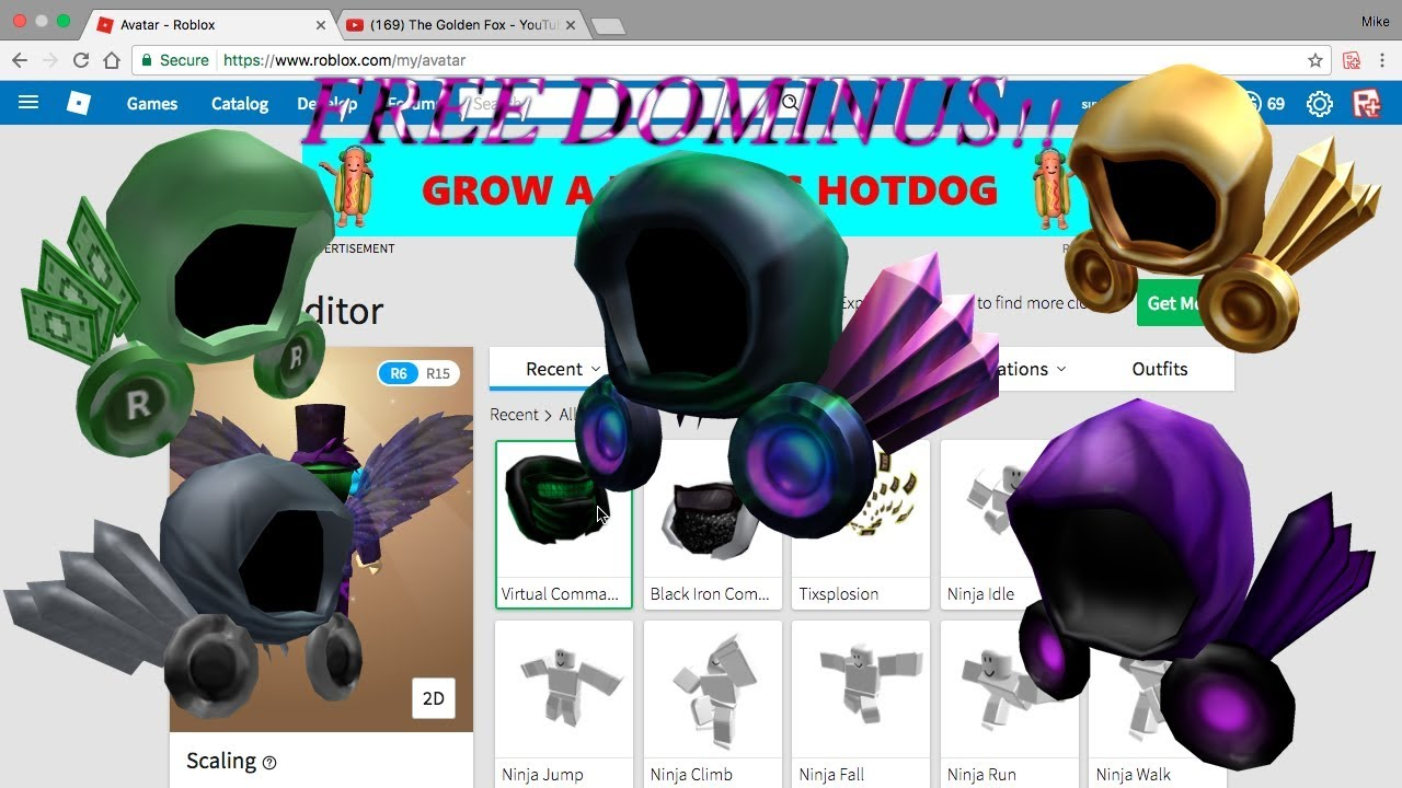 How To Get A Free Dominus On Roblox Youtube