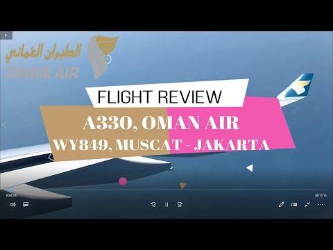 Oman Air A330-200 Muscat - Jakarta | WY849