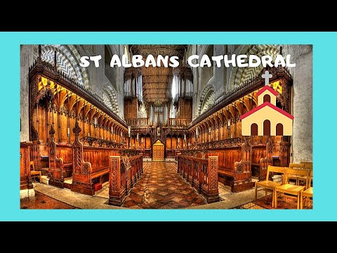 ENGLAND, inside the magnificent ST. ALBANS CATHEDRAL
