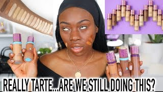 REACTING TO THE NEW TARTE SHAPE TAPE FOUNDATION...I DIDNT EXPECT THIS!