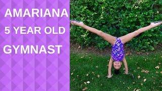 amariana a cute 5 year old gymnast