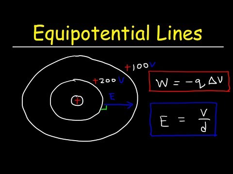 Equipotential Lines & Surfaces, Electric Field, Work & Voltage - Physics