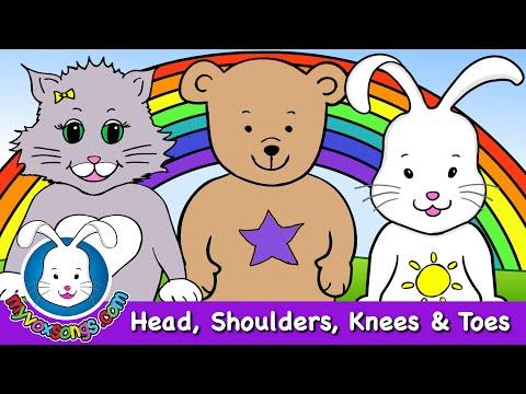 Head Shoulders Knees and Toes - Nursery Rhymes with lyrics