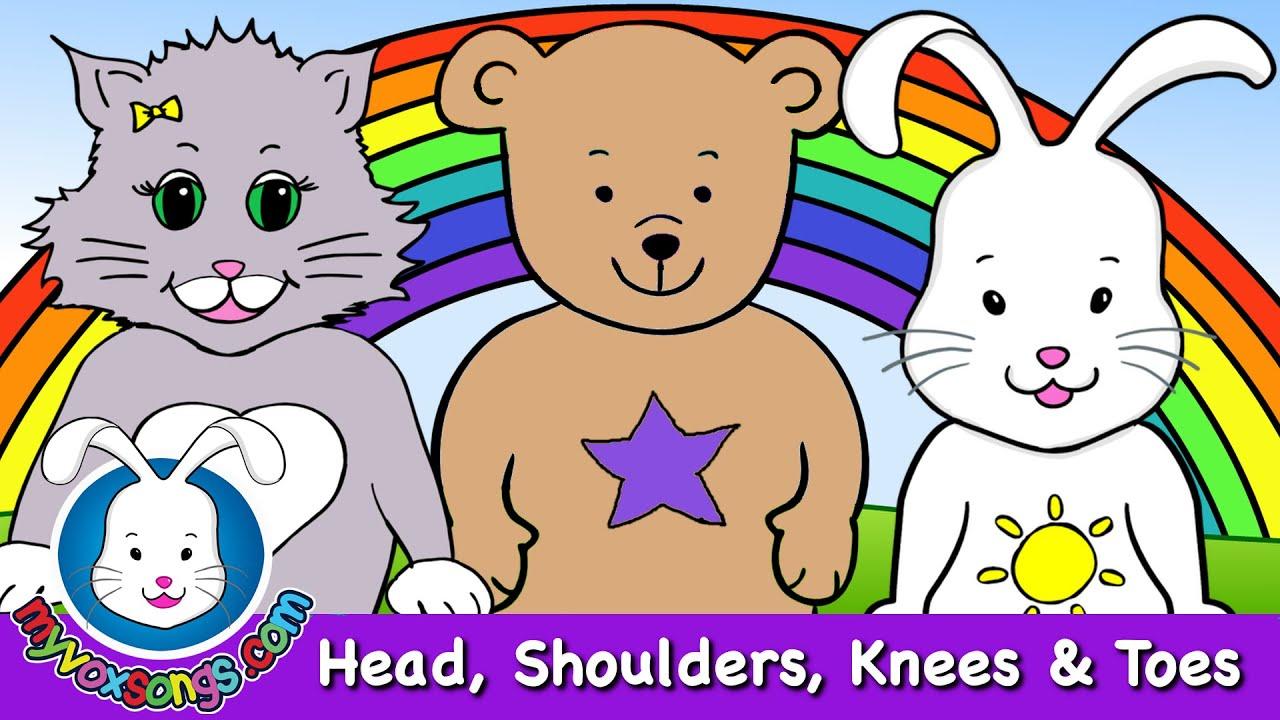 head shoulders knees toes nursery rhymes kids songs youtube