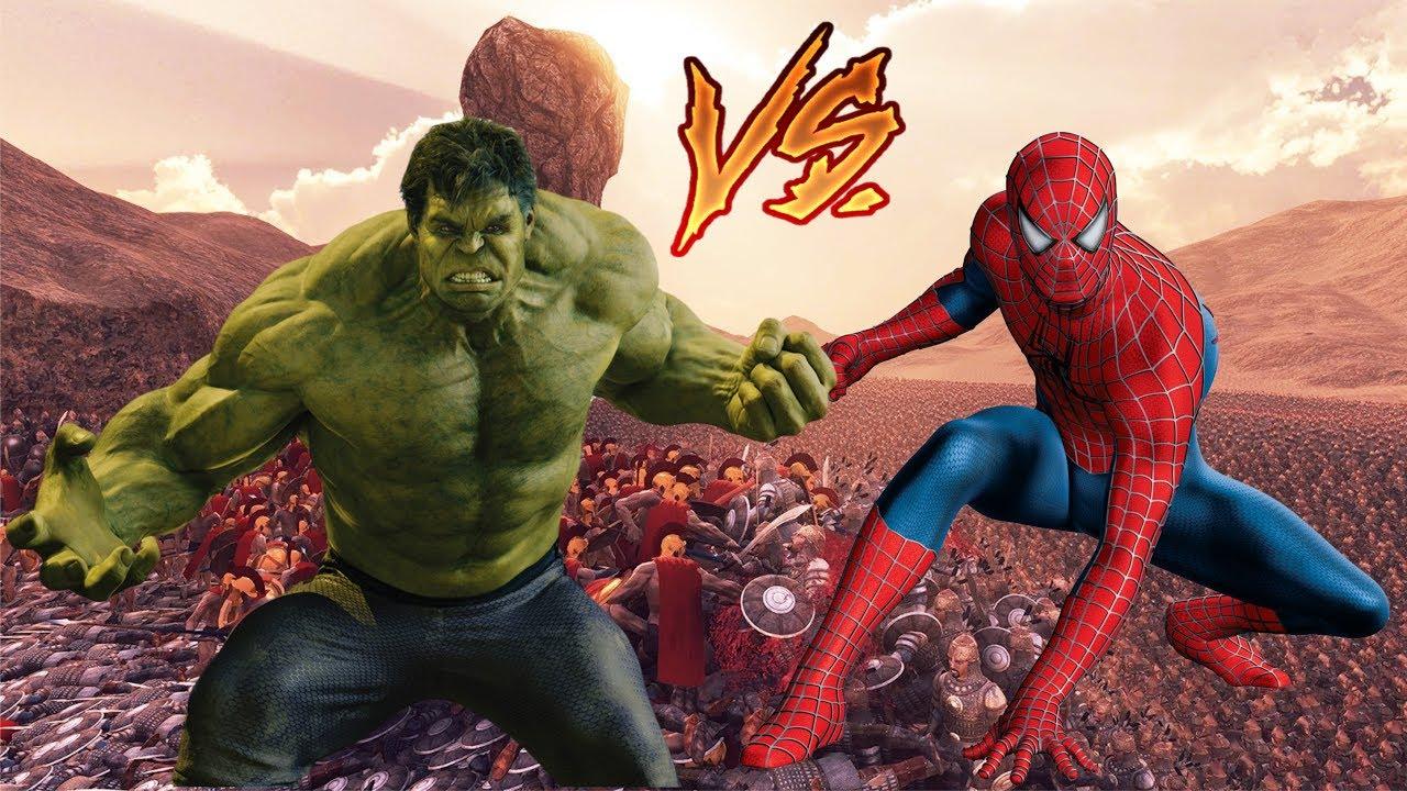 Spiderman Vs Hulk - Epic Battle - YouTube