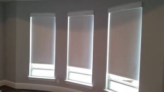Motorized Roller Shades by Firefighter Blinds and Shutters of Frisco