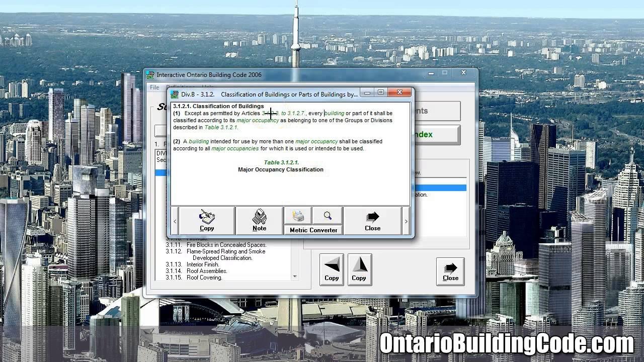 Ontario Building Code The Code YouTube