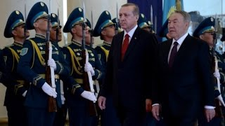 Recep Tayyip ERDOĞAN - Kazakistan'da Resmi Törenle Karşılandı