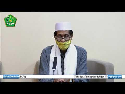 Talkshow Ramadhan, Tuntunan Berlebaran di Tengah Covid-19