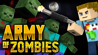Minecraft: SHOOTING AN ARMY OF ZOMBIES | Zombie Mini Game