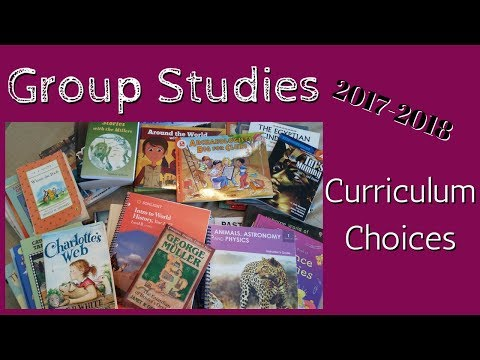 2017-2018 Curriculum Choices: Group Studies