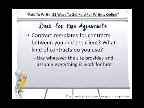 Work For Hire Agreements