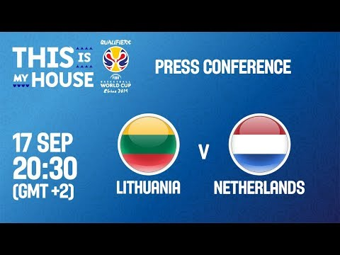Lithuania v Netherlands - Press Conference - FIBA Basketball World Cup 2019 European Qualifiers