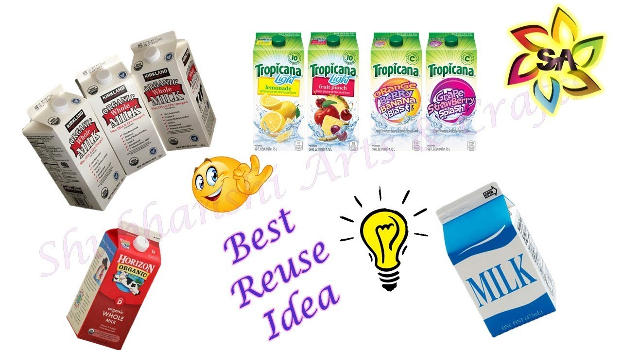 Best Out Of Waste From Milk Tetra Packs Diy Reuse Idea Of Juice