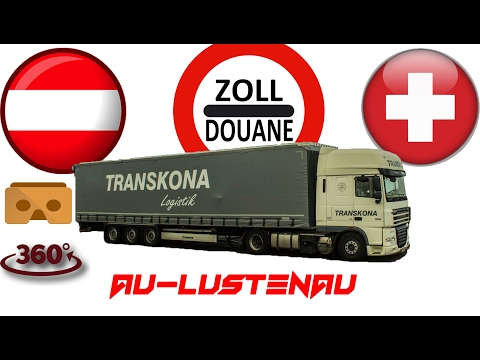 Au-Lustenau határ/grenze  üresen/Leeren 360 fokos videó