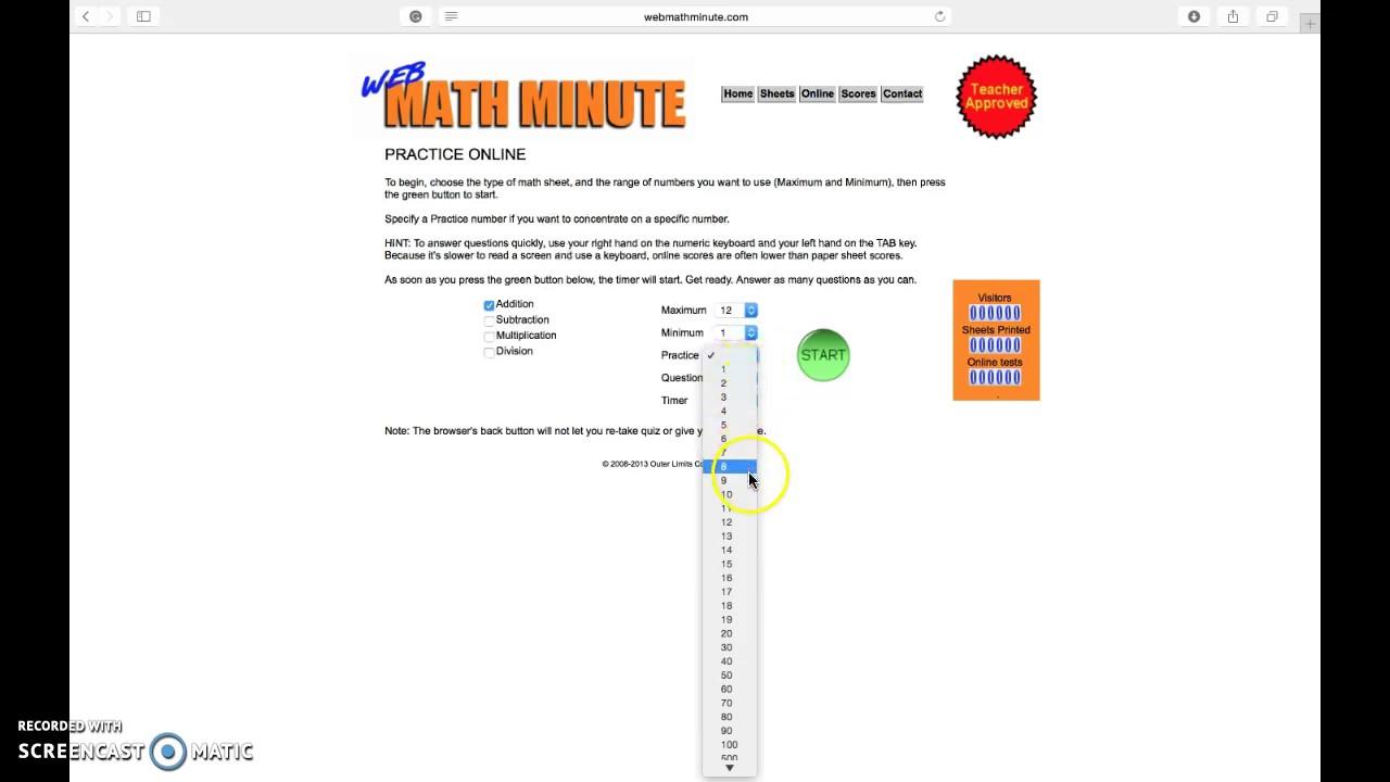 Web Math Minute - YouTube