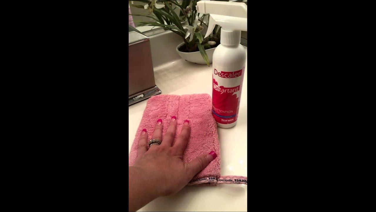 Norwex Descaler Vs Shower Door Part 1