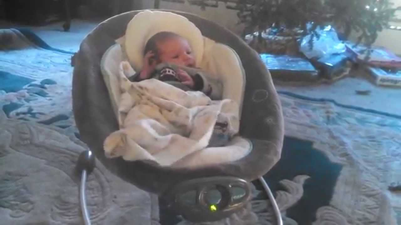 Baby Chair That Vibrates Restoration Hardware Egg Ingenuity Automatic Bouncer: Auto Bouncing 2 Week Old - Youtube
