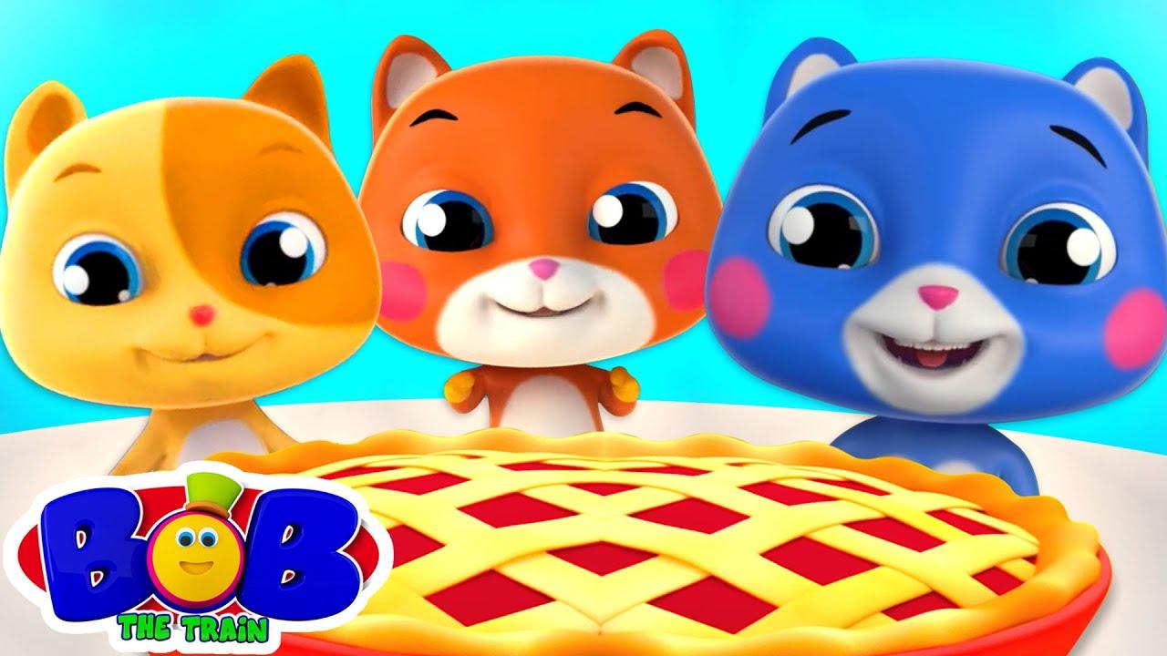 Three Little Kittens | Kittens Song | Preschool Nursery Rhymes & Kids Songs Cartoon - Bob The Train
