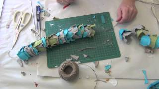 How to make an egg carton snake puppet
