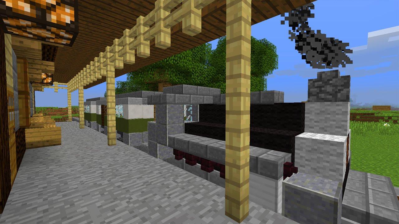Funktionierender Zug In Minecraft Vanilla Minecraft Map YouTube - Minecraft zug spiele