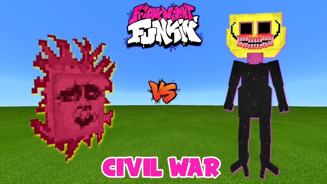 Friday Night Funkin': SENPAI vs. LEMON DEMON in Minecraft | Who Is The CHAMPION?