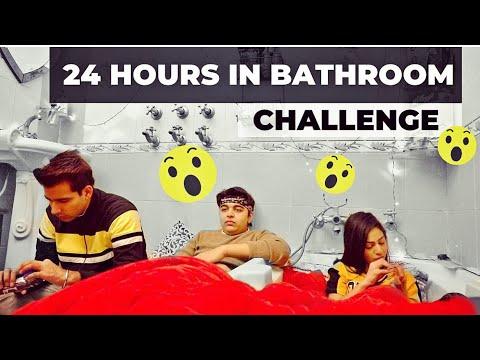 LIVING IN BATHROOM FOR 24 HOURS | Rimorav Vlogs - YouTube