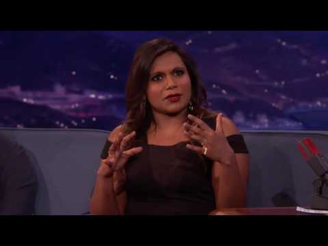 Mindy Kaling about her kiss with Lee Pace (Conan Show)