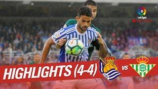 Resumen de Real Sociedad vs Real Betis (4-4)