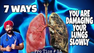 Pro Tips #13 : Top 7 ways to keep your LUNGS HEALTHY | Dr.Education (Hindi)