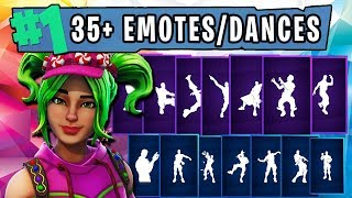 "FORTNITE New ""ZOEY"" Skin Showcased with 35 Dances/Emotes (CUTE!) 