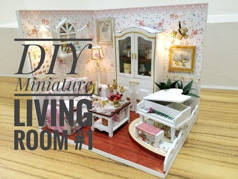 DIY Miniature Living Room Kit #1'Thick Love' with a Piano ('㳖密爱恋' DIY 小房)