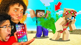 Don't Laugh = Win iPhone 12 (Minecraft Funny Animation)