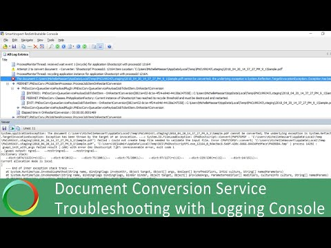 How to Troubleshoot with Logging Console: DCS Video Tutorial