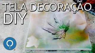 Pintando uma tela com spray | Decoração DIY