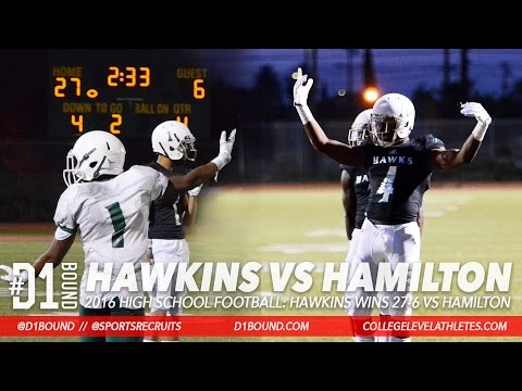 Augustus Hawkins Wins 27-6 vs Hamilton 2016 HS Football Highlight Mixtape - CollegeLevelAthletes.com