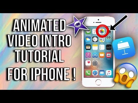 Animated Video Intro iPhone Tutorial in iMovie (free)