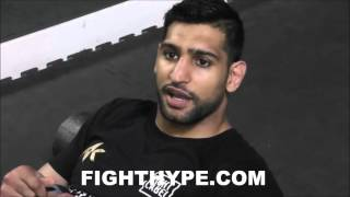 AMIR KHAN DISCUSSES STRENGTH TRAINING AND DIET CHANGES HE'S MADE TO PREPARE FOR CANELO FIGHT