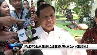 Bantah Pernyataan Jubir, Prabowo: Saya Terima Gaji Serta Rumah dan Mobil Dinas
