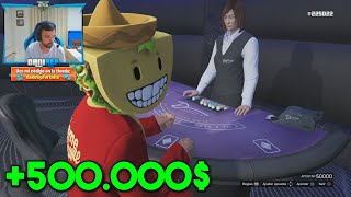 GANO 500.000$ EN 2 MINUTOS EN EL CASINO!! - GTA V ONLINE