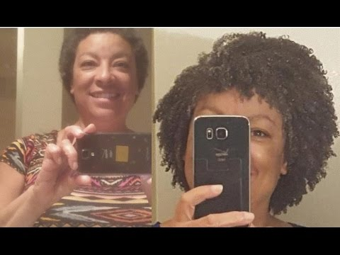 1 year natural hair journey 3c 4a