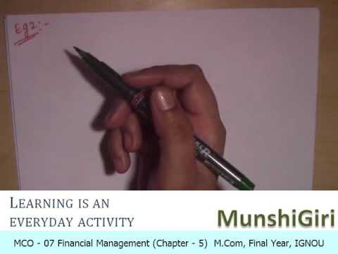 Financial Management Ch 5, Cost of Capital for M.Com Final Year (IGNOU)