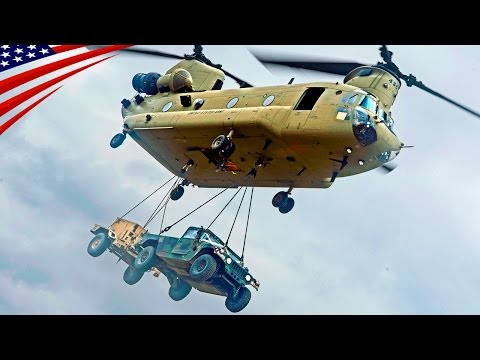 CH-47 Chinook Heavy-Lift Helicopter Sling Load Operations - 大型輸送ヘリCH-47チヌークの吊り上げ輸送(スリングロード)