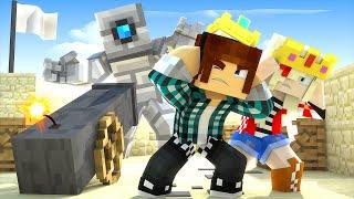 Minecraft : ATIRAMOS NO MONSTRO COM UM CANHÃO !! - Minecraft Reino #15