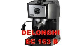 delonghi espresso machine tutorial