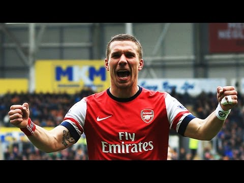 Lukas Podolski - All 12 goals for Arsenal 2013/14