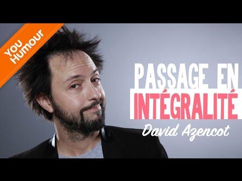 DAVID AZENCOT - Passage en intégralité