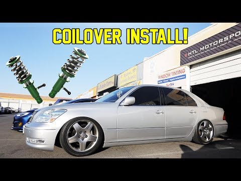INSTALLING COILOVERS ON MY 2005 LEXUS LS430!